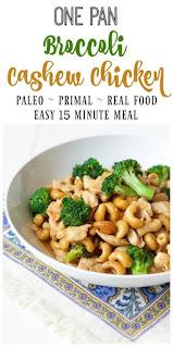 One Pan Broccoli Cashew Chicken