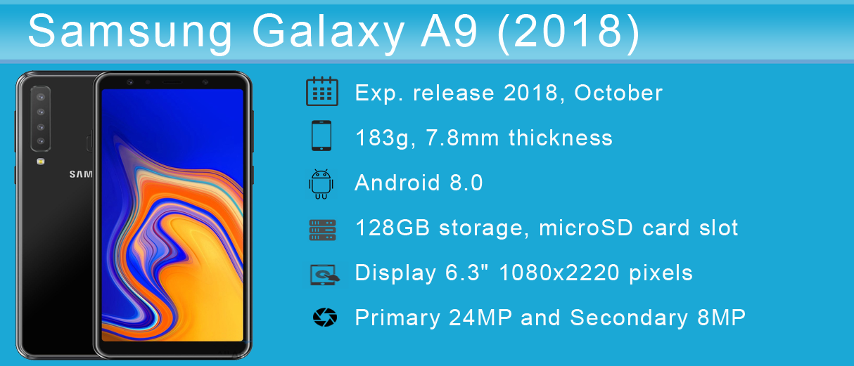 Samsung Galaxy A9 2018 - Price, Full Specifications & Features