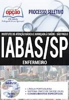 Apostila Concurso Iabas SP  Enfermeiro - Grátis Cd ROM