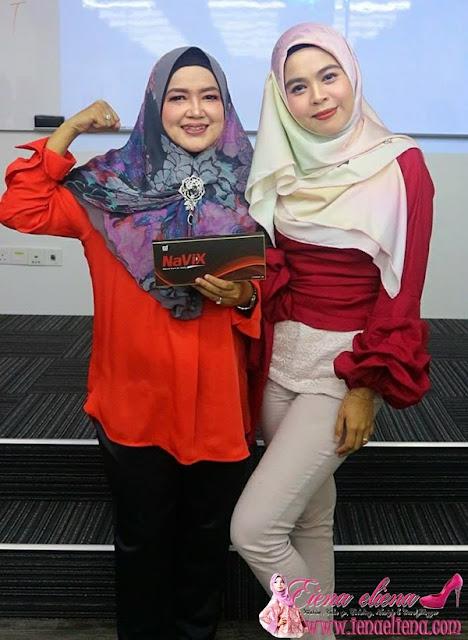 Cik iena bersama Dato' Hajah Jahlilawati Abu Bakar