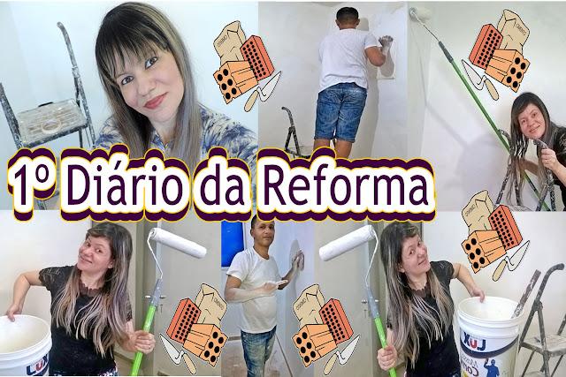 Blog e Canal Roxachic - 1º Diário da Reforma: Reformando o Quarto Especial | Emassando, Lixando, Pintando Paredes e Teto e Mais...