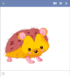 Hedgehog Facebook Sticker