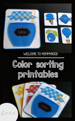 Color sorting for toddlers by Welcome to Mommyhood #homeschool, #earlylearning, #toddleractivities