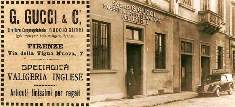 Guccio Gucci. Atelier criado em 1921-Florença 8b5eaf6b07