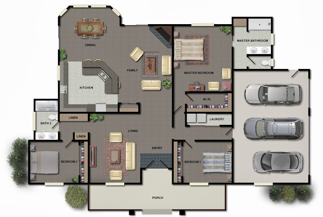 Attractive Architecture U0026 Design: 3D Modern House Plans Projects Collection