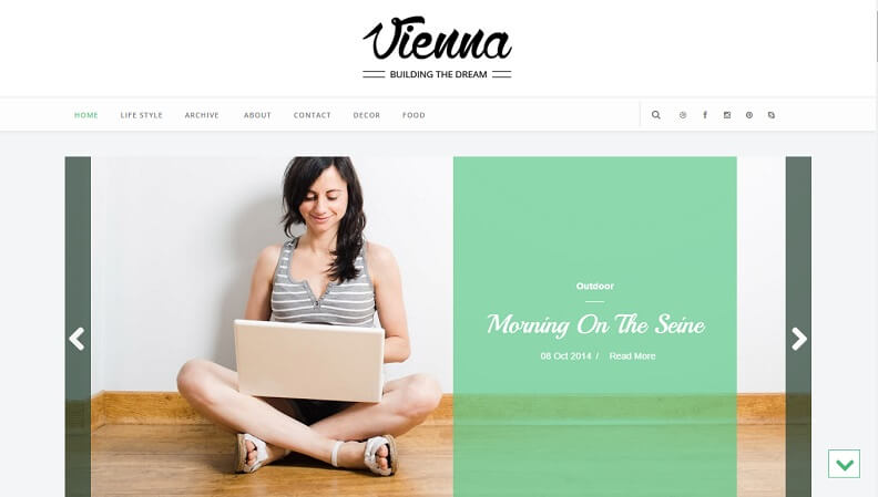 Download - Vienna - Responsive Personal Blog Blogger Template