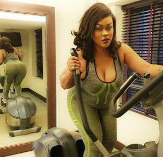 Nollywood actress Daniella Okeke shows off her massive butt and boobs in sexy gym photos