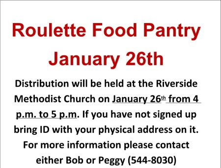 1-26 Roulette Food Pantry
