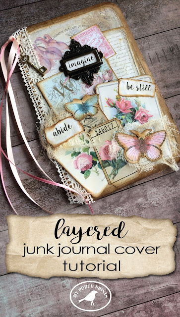 Layered Junk Journal Cover Tutorial from My Porch Prints