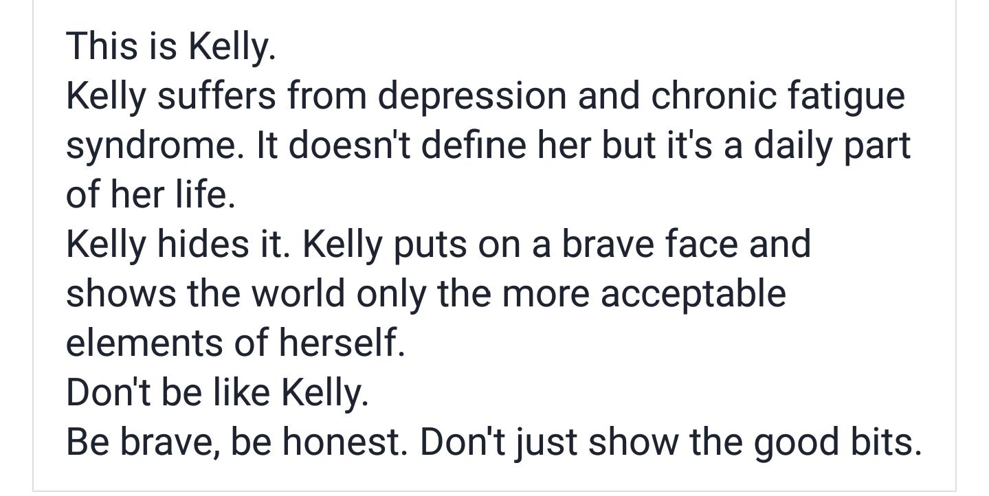 Depression admission facebook