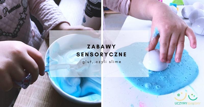 Zabawy sensoryczne - glut, czyli smile