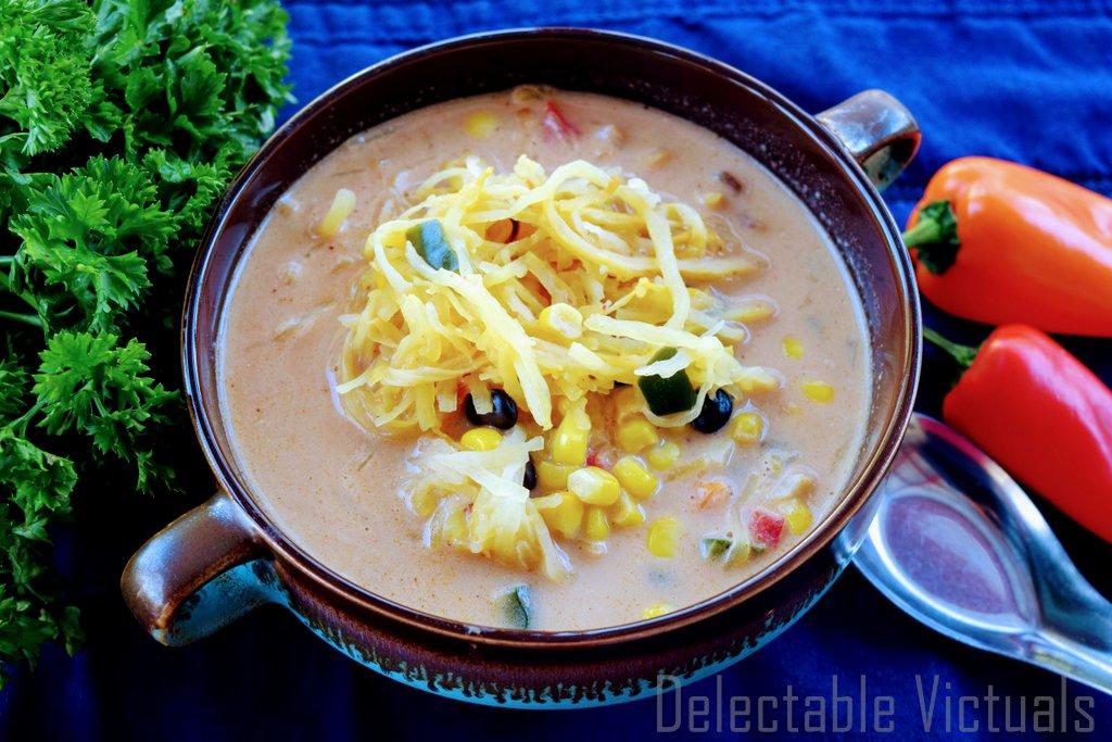 Spaghetti Squash Thai Curry Soup