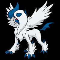 Mega Absol, una especie de dragón-unicornio alado