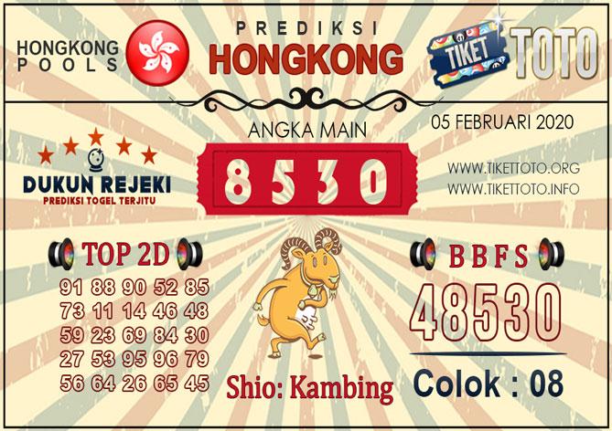 Prediksi Togel HONGKONG TIKETTOTO 05 FEBRUARI 2020