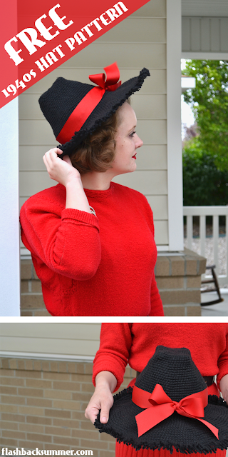 FREE 1940s Crochet Hat Pattern