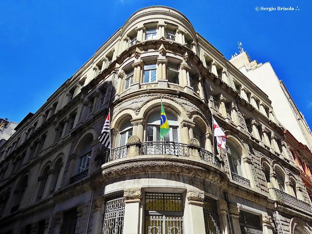 Perspectiva inferior do Edifício Brasilianische Bank für Deutschland - SPTrans - Centro - São Paulo