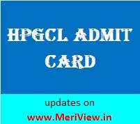 HPGCL UHBVNL HVPNL, DHBVNL AE Admit card