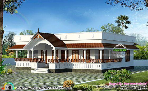 Traditional single floor home