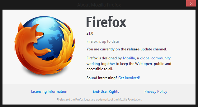 Firefox 21 Launches with 3 critical fixes and new Social Integrations