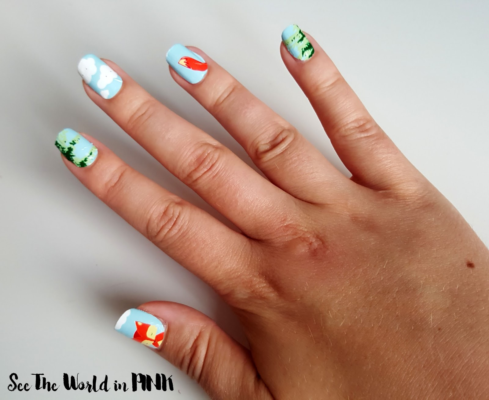 "Manicure Monday - Scratch Nail Wraps ""Fiery Foxes"""