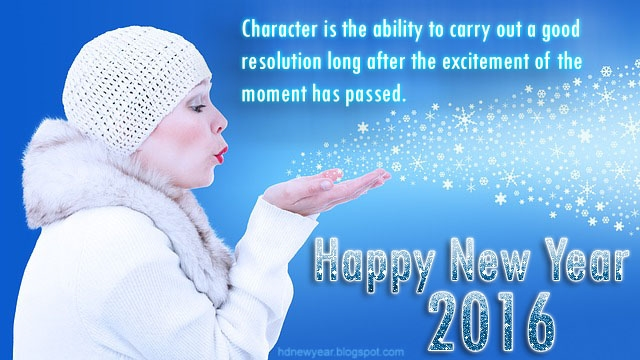 New Year 2016 Quotes with Snow Image Character is The Ability