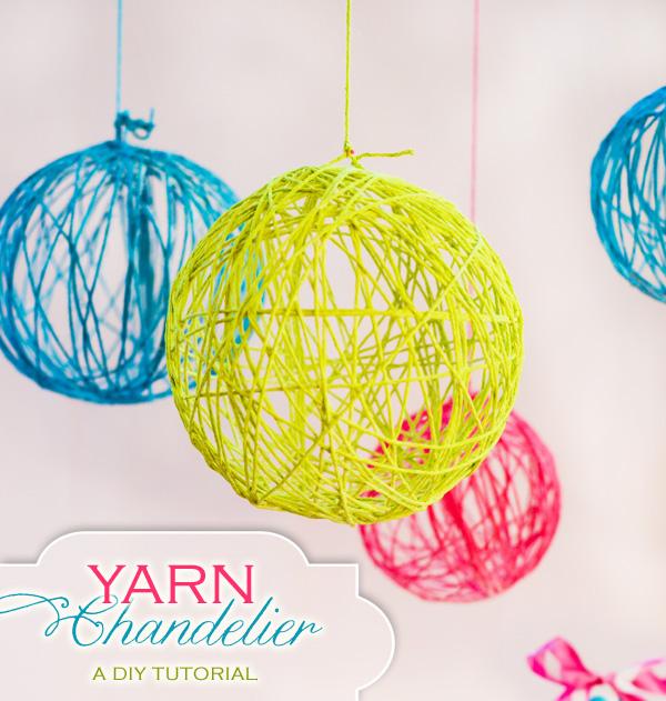 Elody Events: DIY: Yarn Chandelier