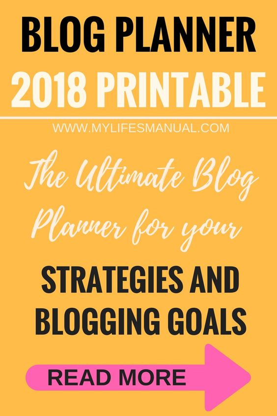 Blog planner for goals and strategies