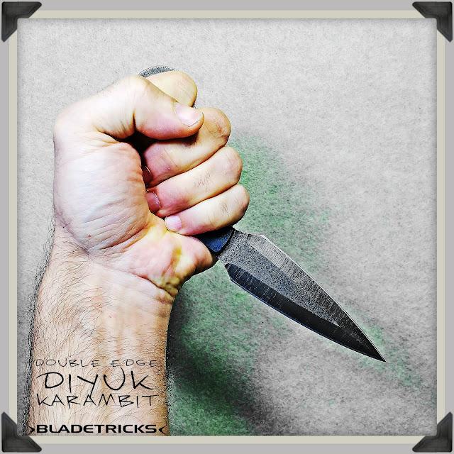 Best knife maker BladetricksKarambit,black G10 sculpted scales