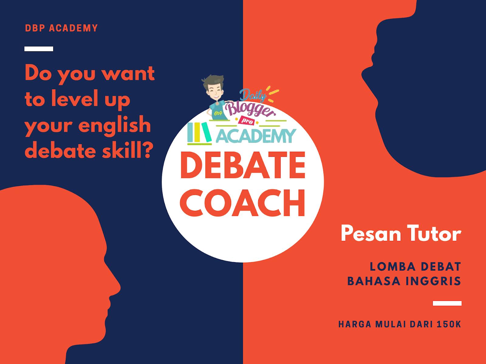 Tutor Privat Debat Bahasa Inggris Jakarta