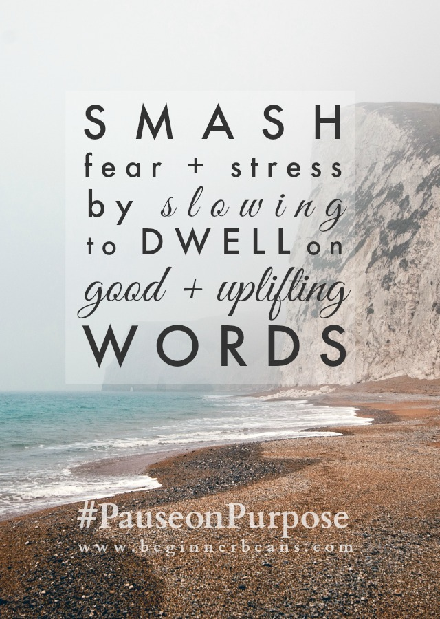 Smash fear and stress by dwelling goodness and truth.
