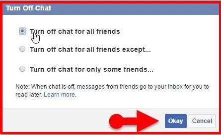 how to show offline on facebook app