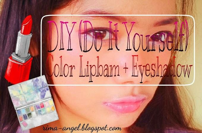 DIY Color Lipbam + Eyeshadow