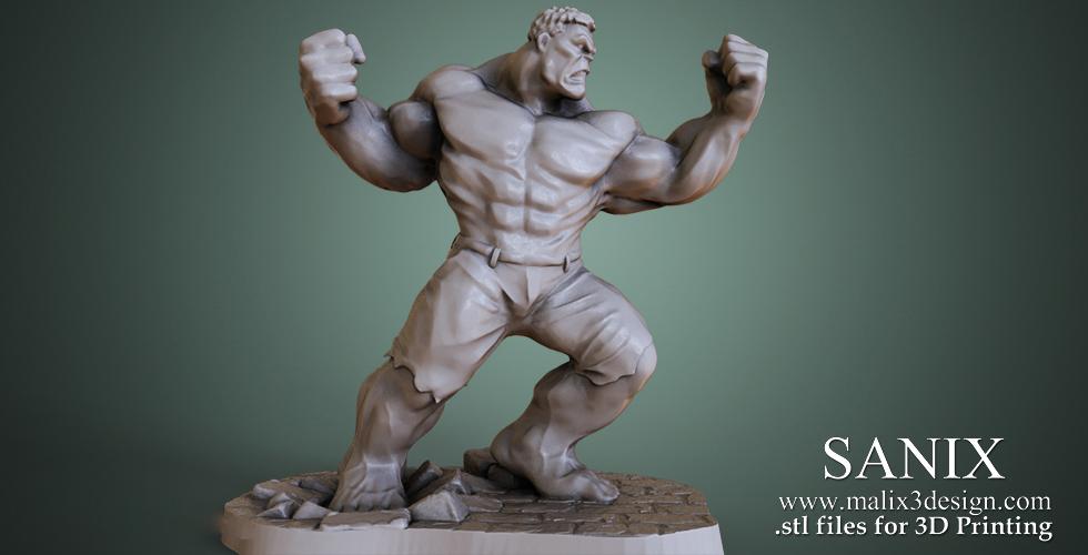 Marvel - The Incredible Hulk / 3D Printable Model