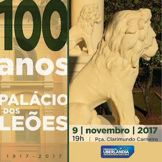 Convite da Prefeitura para a celebração dos 100 anos do Palácio dos Leões