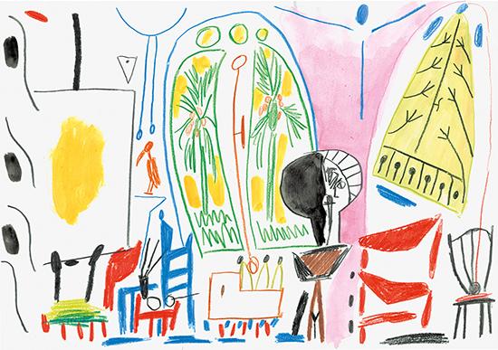 drawing Marijn van Kreij Untitled (Picasso, Le Carnet de La Californie, 1955), 2018