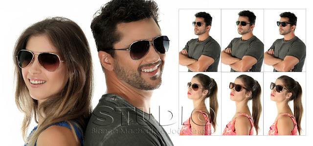 fotografia de produtos com modelos para oculos de sol