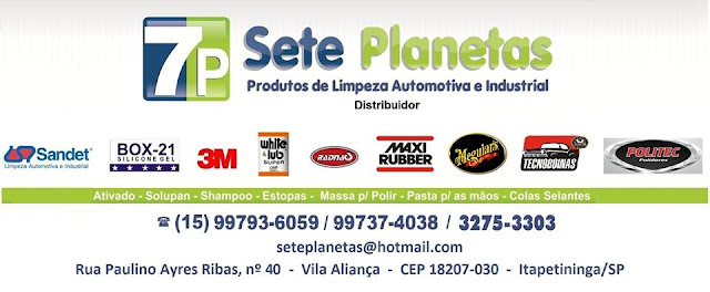 7P SETE PLANETAS Produtos de Limpeza Automotiva e Industrial
