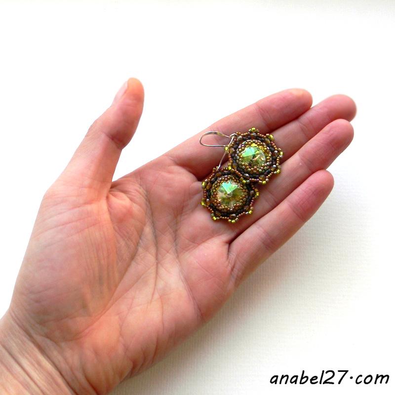 Сверкающие серьги с кристаллами Swarovski - 249 /365