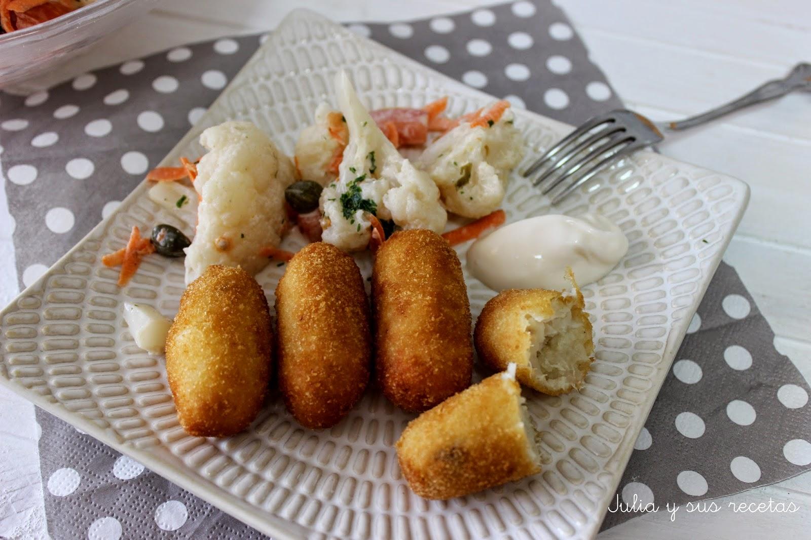 Croquetas de merluza. Julia y sus recetas