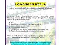 Lowongan Pegawai Rumah Tangga di UNIKA Soegijapranata Semarang