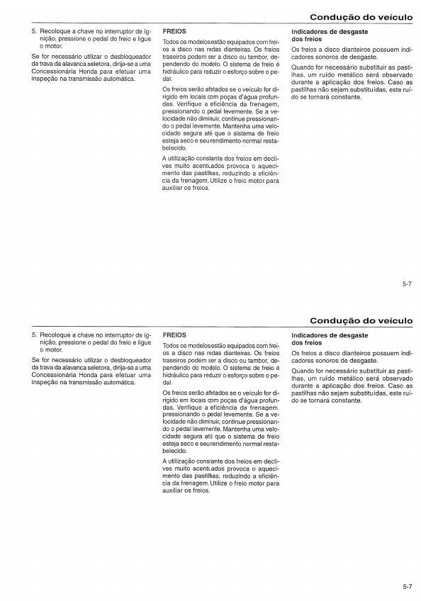 MANUAIS DO PROPRIETÁRIO: MANUAL DO HONDA CIVIC 1998