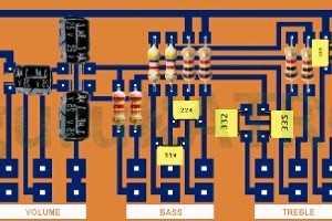 Membuat sendiri PCB Tone Control Pasif