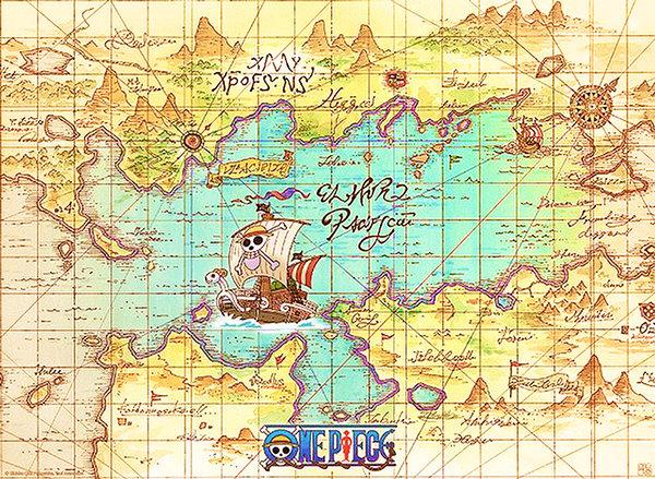 Bản đồ kho báu One Piece - Đảo Hải Tặc - Cuộc hành trình đi vòng quanh thế giới chinh phục kho ...