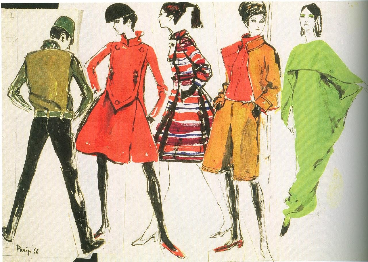 constance wibaut, sketches from paris, 1966