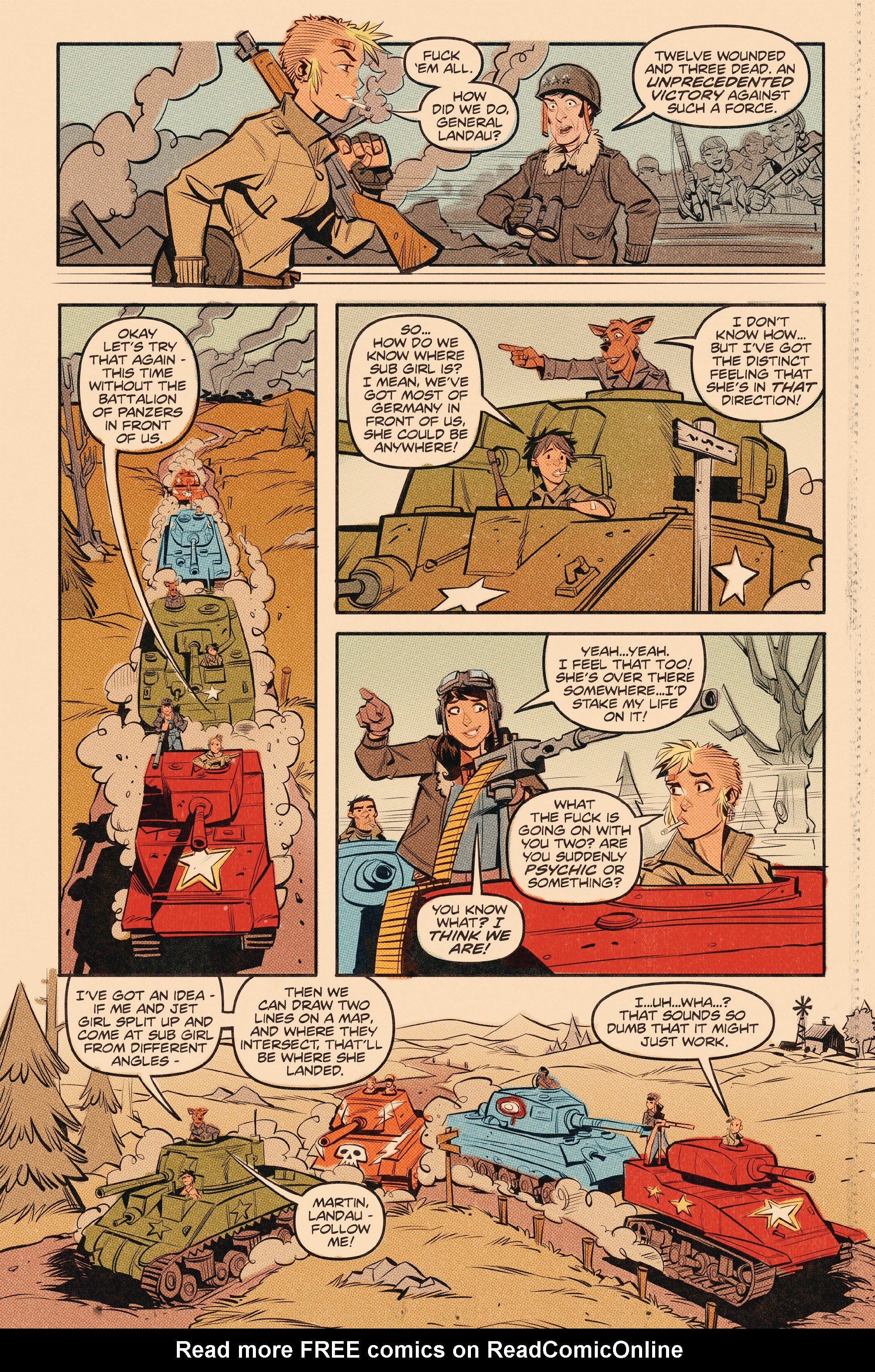 Read online Tank Girl: World War Tank Girl comic -  Issue #3 - 18