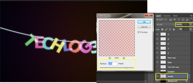 apply gaussian blur filter in photoshop