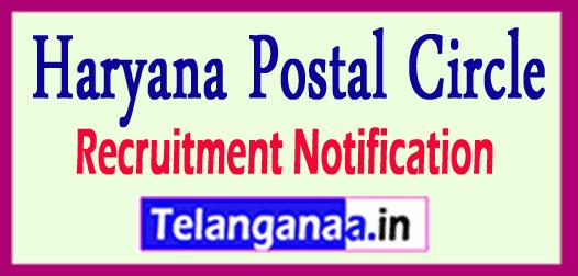 Haryana Postal Circle Recruitment Notification