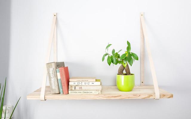 Tutorial DIY: półka na skórzanych pasach [video] - CZYTAJ DALEJ