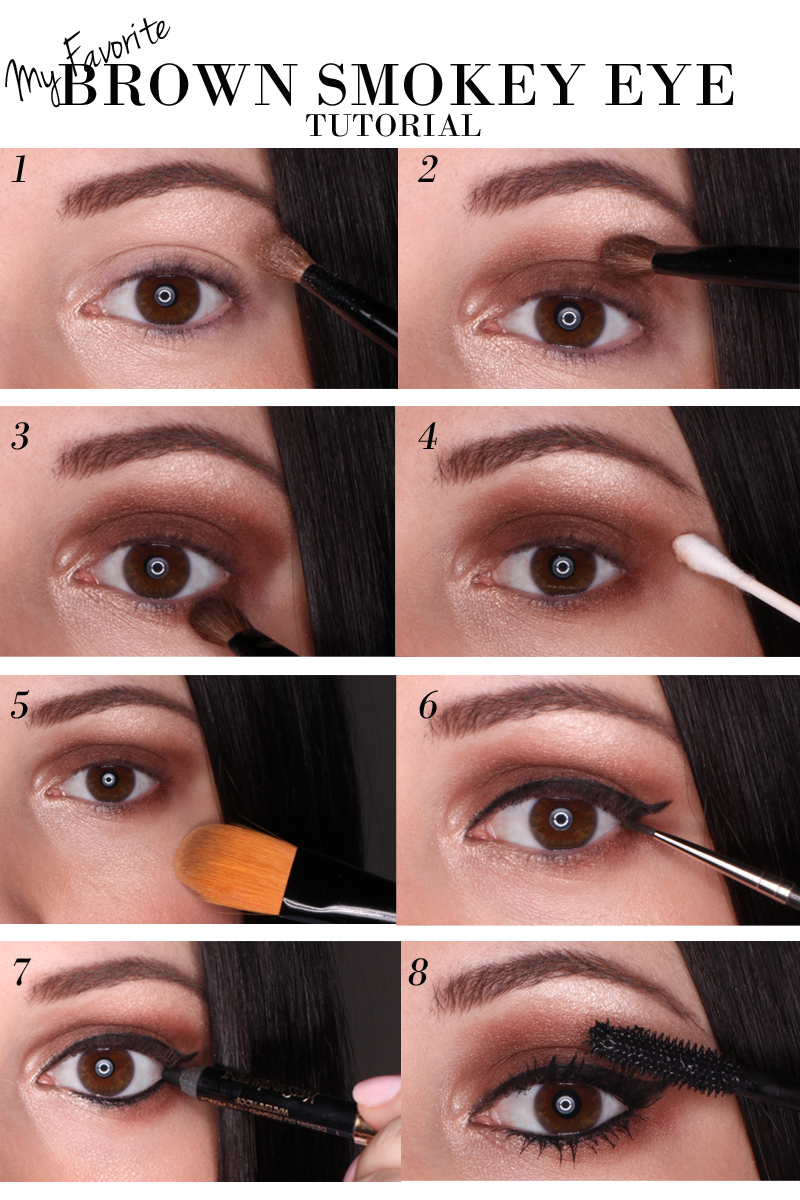Smoky eyeshadow techniques for brown eyes