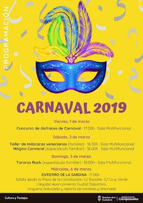 carnaval, 2019, ciempozuelos, disfraces, entierro de la sardina